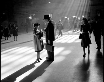 New York Grand Central Station The Parting 1930s. Print