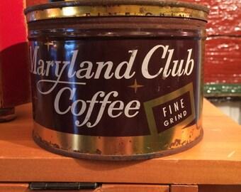 Maryland Club Coffee 1 lb tin can