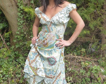 Beautiful Boho Dress summer dress Gypsy Dress Maxi Dress