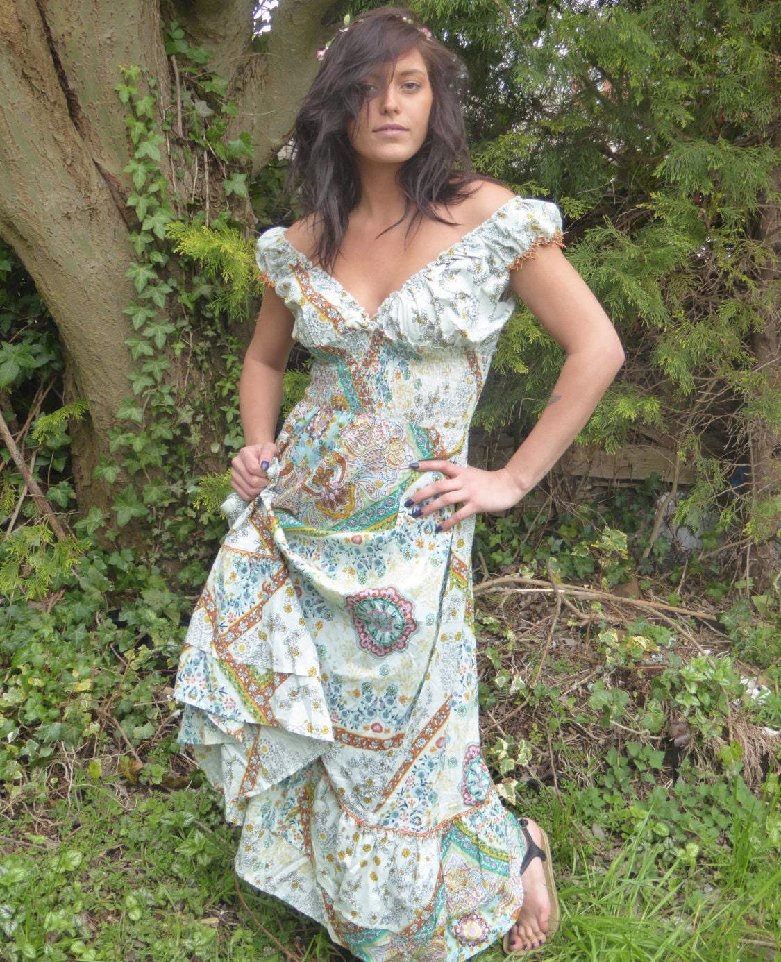 Beautiful Boho Dress Summer Dress Gypsy Dress Maxi Dress