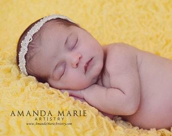 Baby Headband, Ivory Headband, Infant Headbands, Pearls Headband, Halo Headband, Baptism Headband, Baby Headband, Newborn Headband