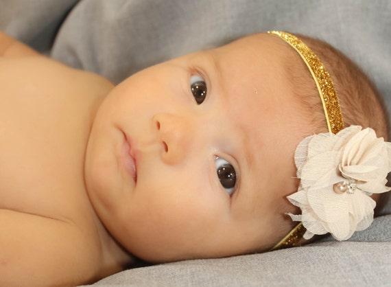 Christmas Baby Girl, flower headband, baby headband, newborn headband, baby girl headband, infant headband, baby flower headband