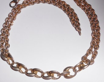 Chunky chain necklace 1960s vintage jewelry double chains