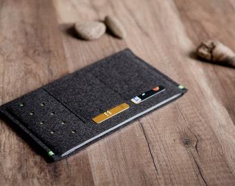 Nexus 7 case / sleeve - anthracite felt