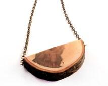 Wooden Necklace, Wooden Pendant, Pecan Wood Necklace, Natural Wooden Necklace, Natural Wood Pendant, Wooden Jewelry, Natural Wood Jewelry
