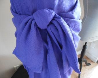 Vintage 1990s Spring/Summer Crinkled Rayon Mock Wrap Dress by Caren Desiree & Co.