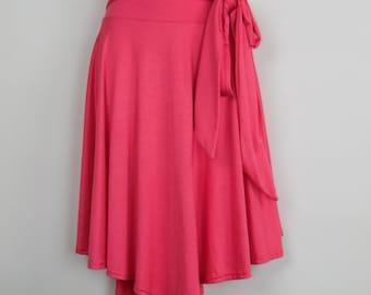 Women's Plus Size High Waist Asymmetrical Skirt