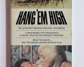 Hang Em High 1960s Clint Eastwood Western Movie Tie In Paperback starring Inger Stevens, Vintage Book VPRB01525
