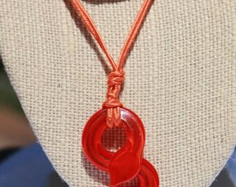 Orange Snake Necklace