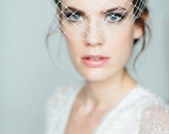 "Wedding handmade Bridal Birdcage Veil - ""June"""