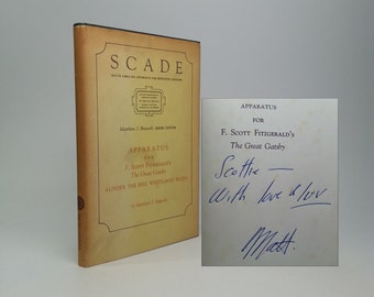 SCADE Apparatus for F. Scott Fitzgerald's The Great Gatsby Signed & Inscribed from Bruccoli to Fitzgerald's Daughter Scottie