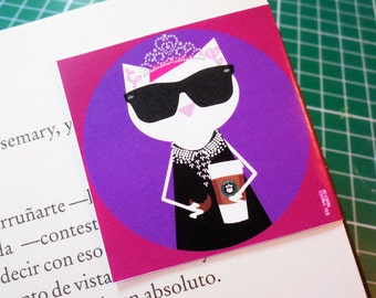 Breakfast at Tiffany's, Magnetic Bookmark 2 x 2 in