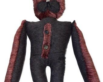 The Left Art Doll, PUMMEL, Folk art doll, handmade One of a Kind