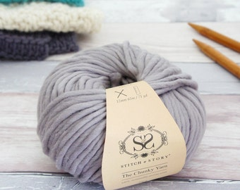 Stormy Grey - Chunky Merino Knitting Wool 100g