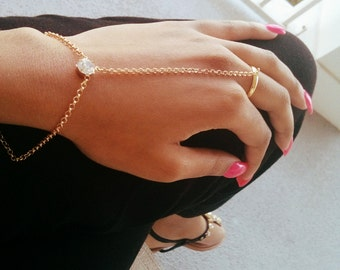 Khaleesi Hand Chain - Hand Bracelet - Daenerys Targaryen Inspired - Game of Thrones Jewelry - Gifts for Her