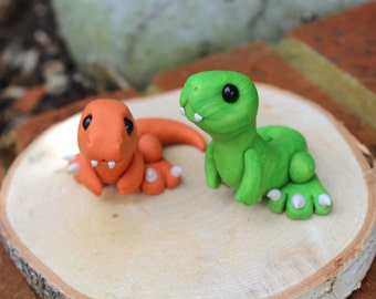 Cute Baby T-rex sculpture (Green)