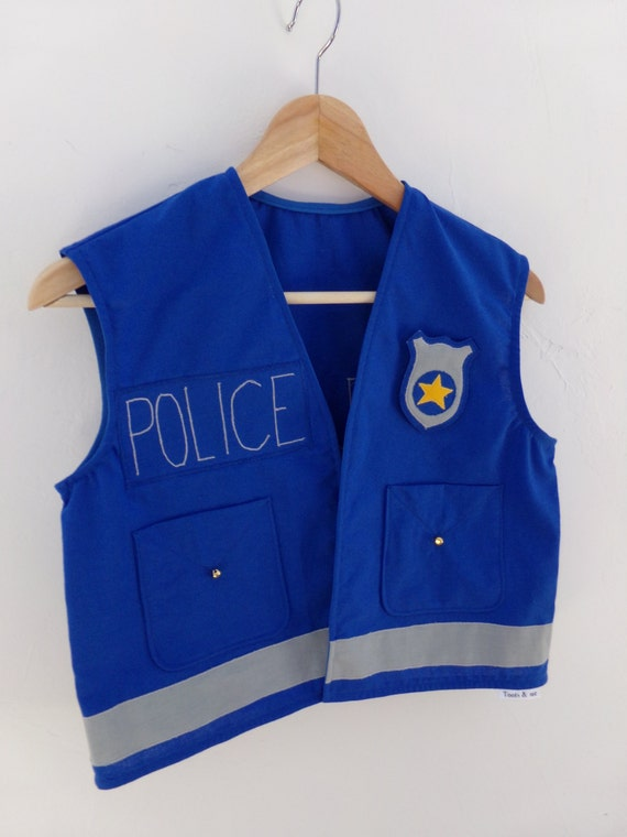 Kids Police Officer Vest 100% cotton Handmade Dress by ...