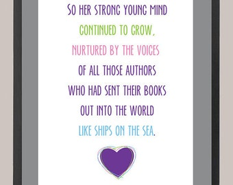 Ronald Dahl Matilda Quote 11 x 14 Inspiration Print