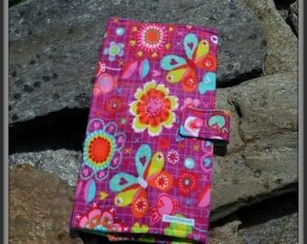 Butterflies & Flowers on Purple Diaper Wallet