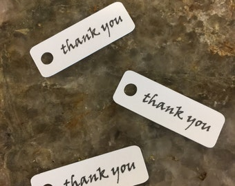Mini Thank You White Tags, set of 50