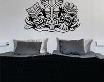3 Tikis Design Wall Decal Sticker Vinyl Art Hawaiian Beach Teen