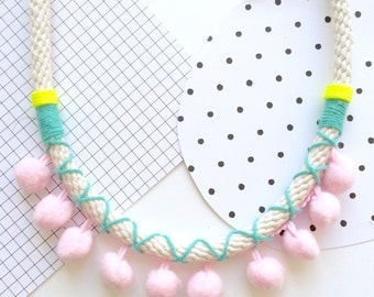 Polly Pom Pom Necklace