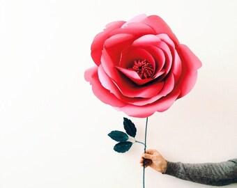 Unique Paper Rose- Giant Paper Flower- Big Paper Rose - Single Paper flower