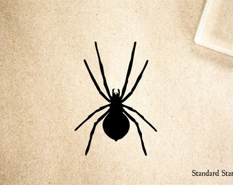 Spider Silhouette Rubber Stamp - 2 x 2 inches