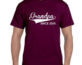 Grandpa Gift Mens Christmas Gifts for Grandpa TShirt First Time Grandparents Grandparents To Be Mens Personalized Gifts Grandpa (ANY YEAR)