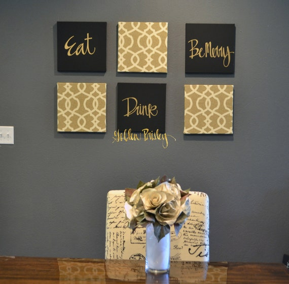 Live laugh love wall art pack of 6 canvas wall hangings large for Easy live laugh love home decor ideas