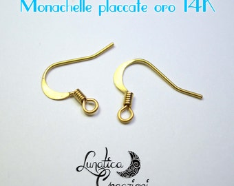 14 k gold plated earwires