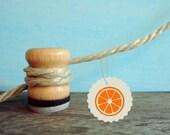 Stempel Zitronen oder Orangen Scheibe