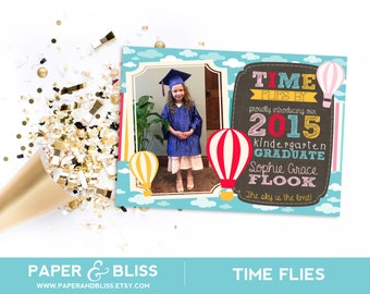 Time Flies - Kindergarten Graduation Announcement
