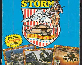 "1991 Topps Desert Storm ""Coalition For Peace"" Wax Pack Boxes (2) FREE SHIPPING!!"