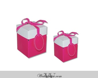 Pink Favor Boxes , Gift Boxes - Set of 10