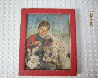 Boy with Dogs Puzzle