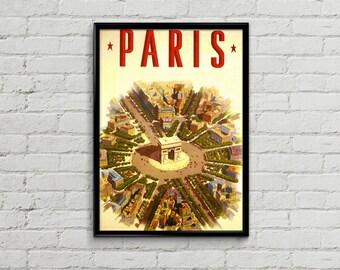 Paris print. Paris poster. Paris art. Paris decor. Paris illustration. Travel poster illustration. Wall art print.