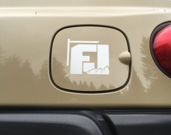 "Toyota FJ Curser ""FJ"" with Mountain V2 Decal"