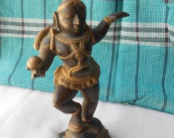 Gorgeous Dancing Krishna miniature.