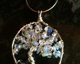 Opalite Crystal Tree of Life Pendant
