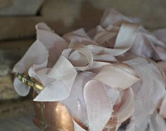 Luxurious Plant Dyed Silk Ribbon, KOKO LOCO 1 inch
