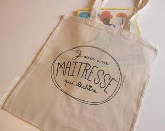 "Tote Bag ""I am a mistress who rips"""