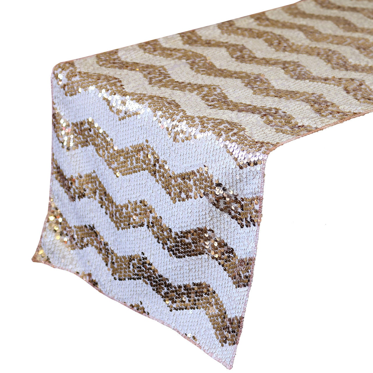 Yourchaircovers 14 x 108 inch chevron sequin table runner for 108 table runner