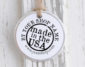 Business Card Stamp- Made In the USA Stamp- Custom Business Stamp- Business Self-inking or Rubber Stamp- Etsy Shop Logo- 10164