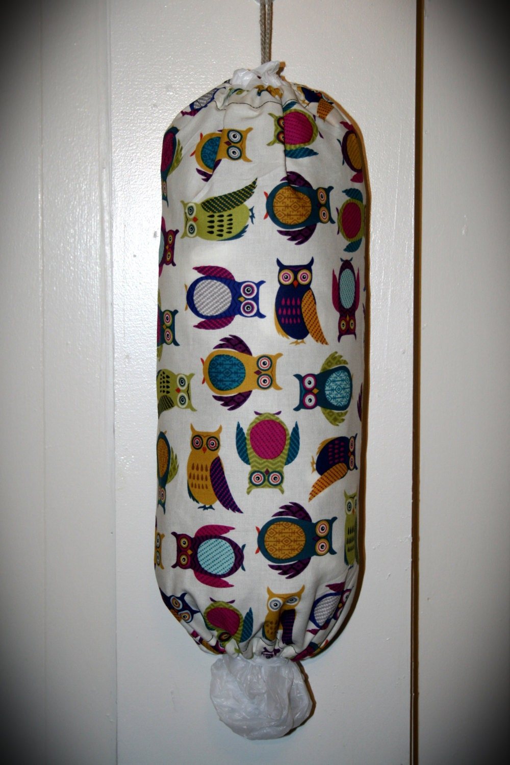 Grocery bag holder plastic dispenser cute owl