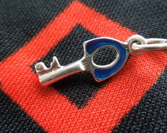 Enamel Sterling Key Charm for Bracelet from Charmhuntress 01703