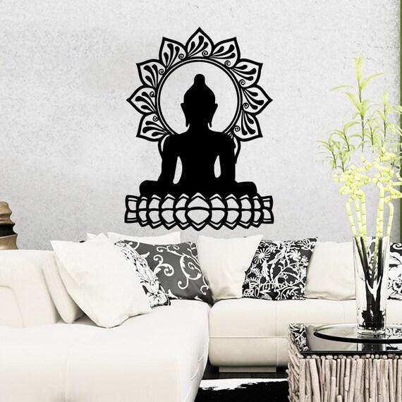 Wall Decal Vinyl Sticker Decals Home Decor Buddha Namaste Yoga