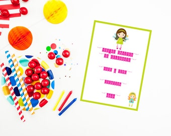Fairy Fill in the Blank Party Invitation {instant download}