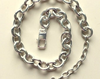 Sterling Silver Link Bracelet  16.50g  7 3/4 Inches -Repurposed Men's or Women's