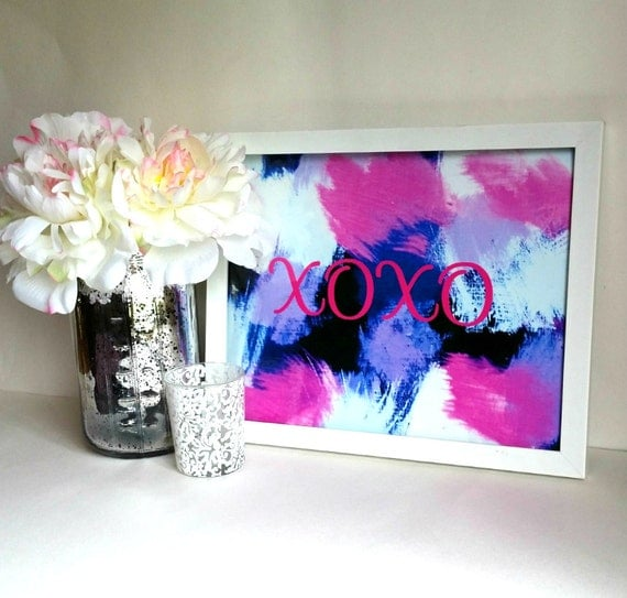 Xoxo Art Print 8 X 10 Inch Wall Art Print Poster For By